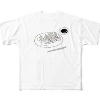 餃子 Full graphic T-shirts