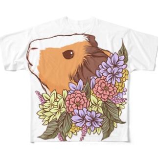 ブーケとモルモット2018 Full graphic T-shirts