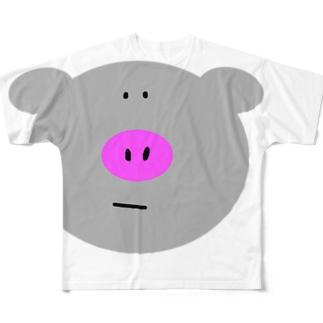 イベリコぶた。 Full graphic T-shirts