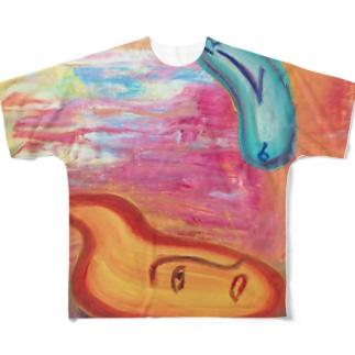 リーゼント燃えてるよ~生焼けVer.~ フルグラフィックTシャツ
