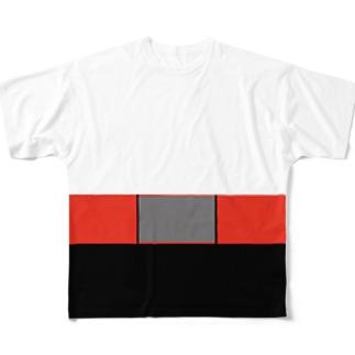 ハイウエストベルトTee Full graphic T-shirts