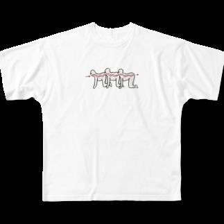 K_Aのムカデ人間 Full graphic T-shirts