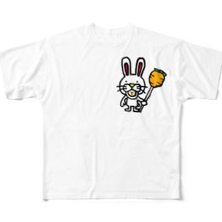 ぴょんぽっぴん Full graphic T-shirts