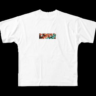 honekajitsu書店の花曇り Full graphic T-shirts