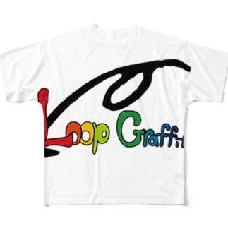 COLORFUL GRAFFITI Full graphic T-shirts