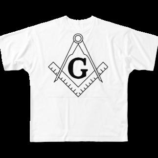 K_Aのフリーメイソン Full graphic T-shirts