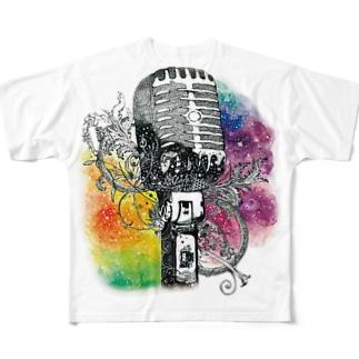 きのこのおうちのジェネステ(ロゴ無し) Full graphic T-shirts