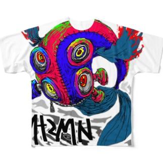 ホノオノクジラ Full graphic T-shirts