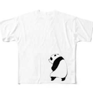 すわりせなかぱんだ Full graphic T-shirts