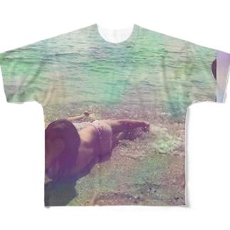 産まれたまま Full graphic T-shirts
