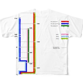ARJ-7E路線図 Full graphic T-shirts