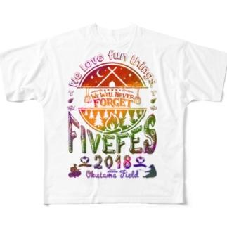 カラーフェス Full graphic T-shirts