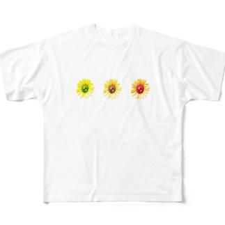 向日葵さんさん Full graphic T-shirts