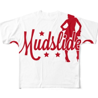 MUDSLIDE original logo Full graphic T-shirts