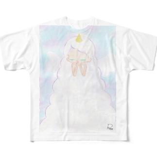 ユニコーンの願い Full graphic T-shirts