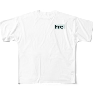 Frei=自由 Full graphic T-shirts