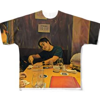 辛子明太子の名画「JavaScriptのthisを教えるpastak」 Full graphic T-shirts