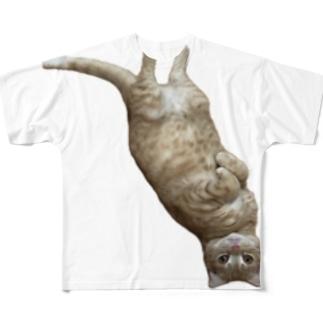 寝よう猫 Full graphic T-shirts