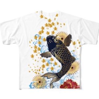 昇り鯉 Full graphic T-shirts