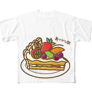 フルーツケーキ Full graphic T-shirts