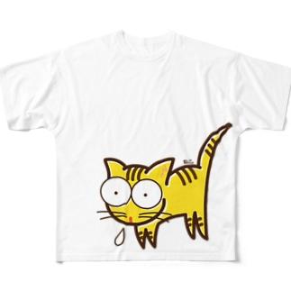 ねこ。 Full graphic T-shirts
