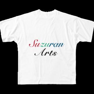 朱翠藍Artsの朱翠藍Arts ブランドロゴ Full graphic T-shirts