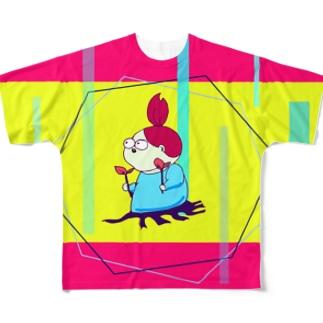 考える葦(あし) Full graphic T-shirts