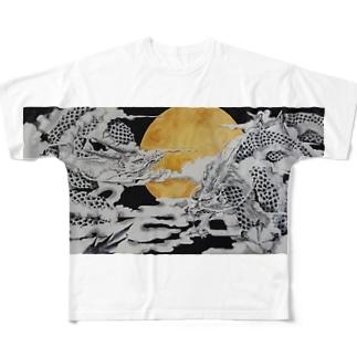 龍神奉納 Full graphic T-shirts