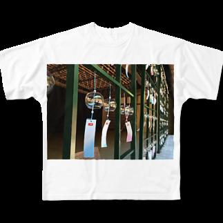 mimifineのガラスの風鈴 Full graphic T-shirts