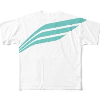ELITUS BIG LOGO TEE (BLUE) Full graphic T-shirts