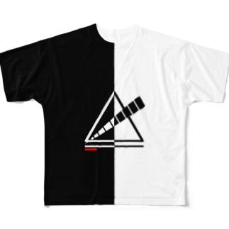 KIRI/KAE△tシャツ フルグラフィックTシャツ