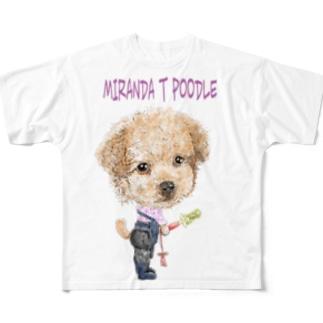 ミランダ.T.プードル Full graphic T-shirts