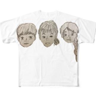 さんこいち Full graphic T-shirts