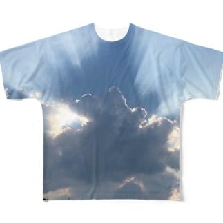 蒼い狐の雲隠れ Full graphic T-shirts