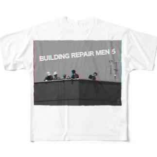 BUILDING REPAIR MEN 5 ! Full graphic T-shirts