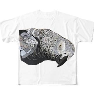 切り貼りヨウム Full graphic T-shirts