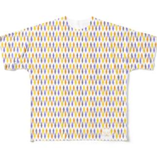 ねこおばけ Full graphic T-shirts