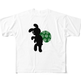 ドロボーうさぎ Full graphic T-shirts