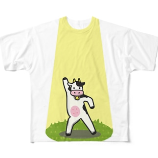 Dancing Cow Full graphic T-shirts