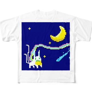 月どろぼう Full graphic T-shirts