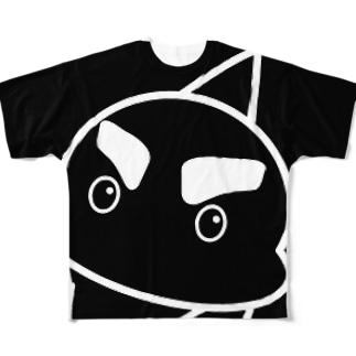 「こんにちは!」 #シャチくん フルグラフィックTシャツ