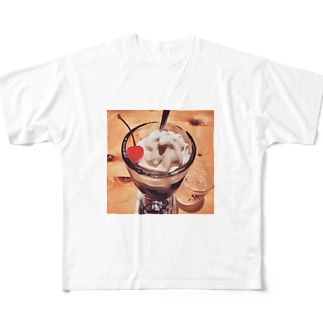 主役はチェリー🍒 Full graphic T-shirts