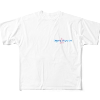 Ogawa  tosouten(桜バージョン) Full graphic T-shirts