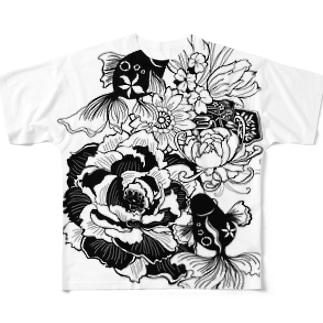 輪廻 Full graphic T-shirts