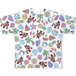 真夏のクッキー総柄シリーズ Full graphic T-shirts