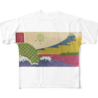 東海道田子之浦から Full graphic T-shirts