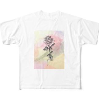 ヒトメボレ Full graphic T-shirts