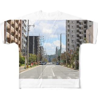 九大学研都市側 Full graphic T-shirts