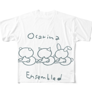 オカリナアンサンブルG×W Full graphic T-shirts