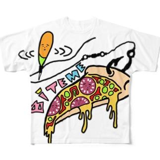 バイトミー ピザTシャツ Full graphic T-shirts
